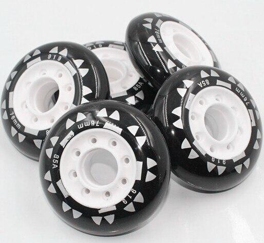 Prix pour 74L-35 livraison gratuite 72 mm 85A haute élastique PU Skate roues adultes Skate roller roues roues frein à roues alignées slalom