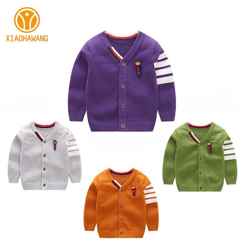 Warme jongens-truien Lange mouw Pasgeboren sweaters met Aap-gebreide - Babykleding - Foto 2