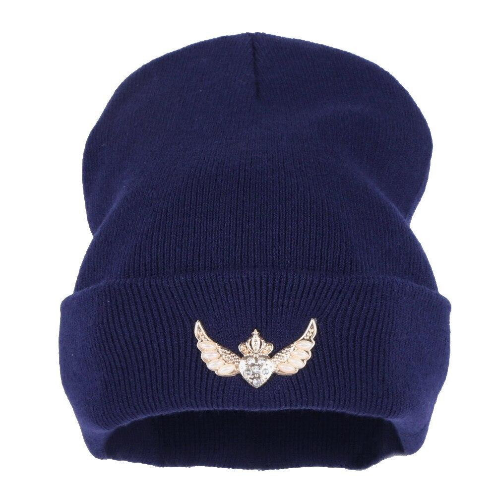 8657544e3 US $4.9 21% OFF|new fashion women brand winter hats custom design letter  Star rhinestone beanies wholesale girl best cute thermal gorro Skullies-in  ...