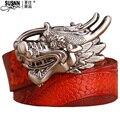 Diamantes Águila Cinturón Cinturones de Cuero Genuino L Buena Calidad Para Hombre de Negocios Diseñador de lujo de la Marca H Hebilla Cinturones Masculinos para Hombres Cinturones de V