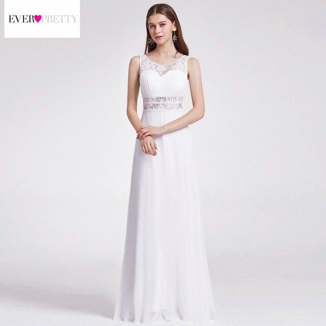 Simple Backless Beach Wedding Dress Turkey Lace Hollow O Neck Floor ...