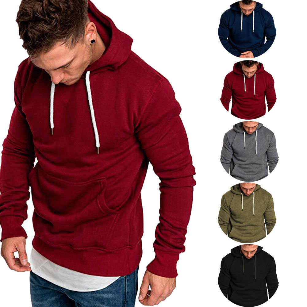 Litthing 2019 Solid With Pocket Hoodies Men Sweatshirts Rapper Hip Hop Hooded Pullover Sweatershirt Male Clothes Sudadera Hombre
