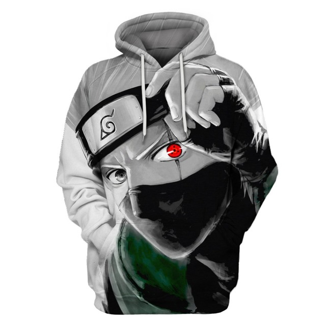 dbff7eff7817 Autumn Winter Thin Stylish 3D Sweatshirts Men Women Hoodies With Hat Print  Naruto Hatake Kakashi