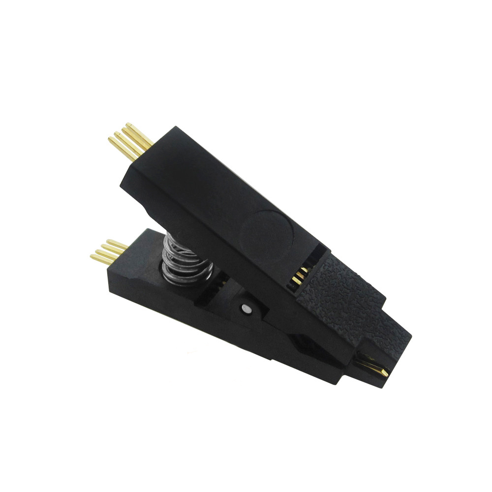 1PCS Programmer Testing Clip SOP8 SOP SOIC 8 SOIC8 DIP8 DIP 8 Pin IC Test Clamp the latest test fixture sop8 pin bios clip width 8 pin universal adapter clip body clip clip burning chip