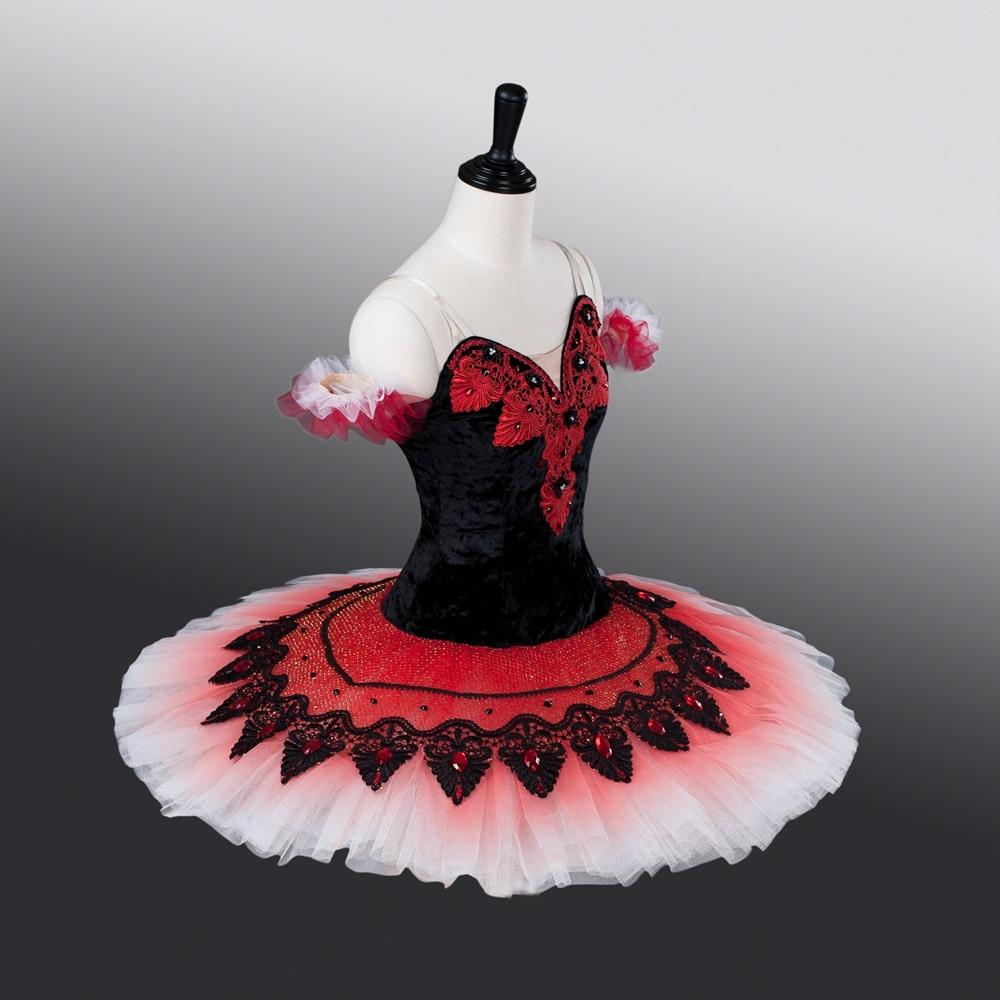 Don-Quixote-Performance-Stage-Wear-Girls-Elastic-Ballet-Tutus-Black-Red-White-Tutu-Dress-ATS9009-Custom