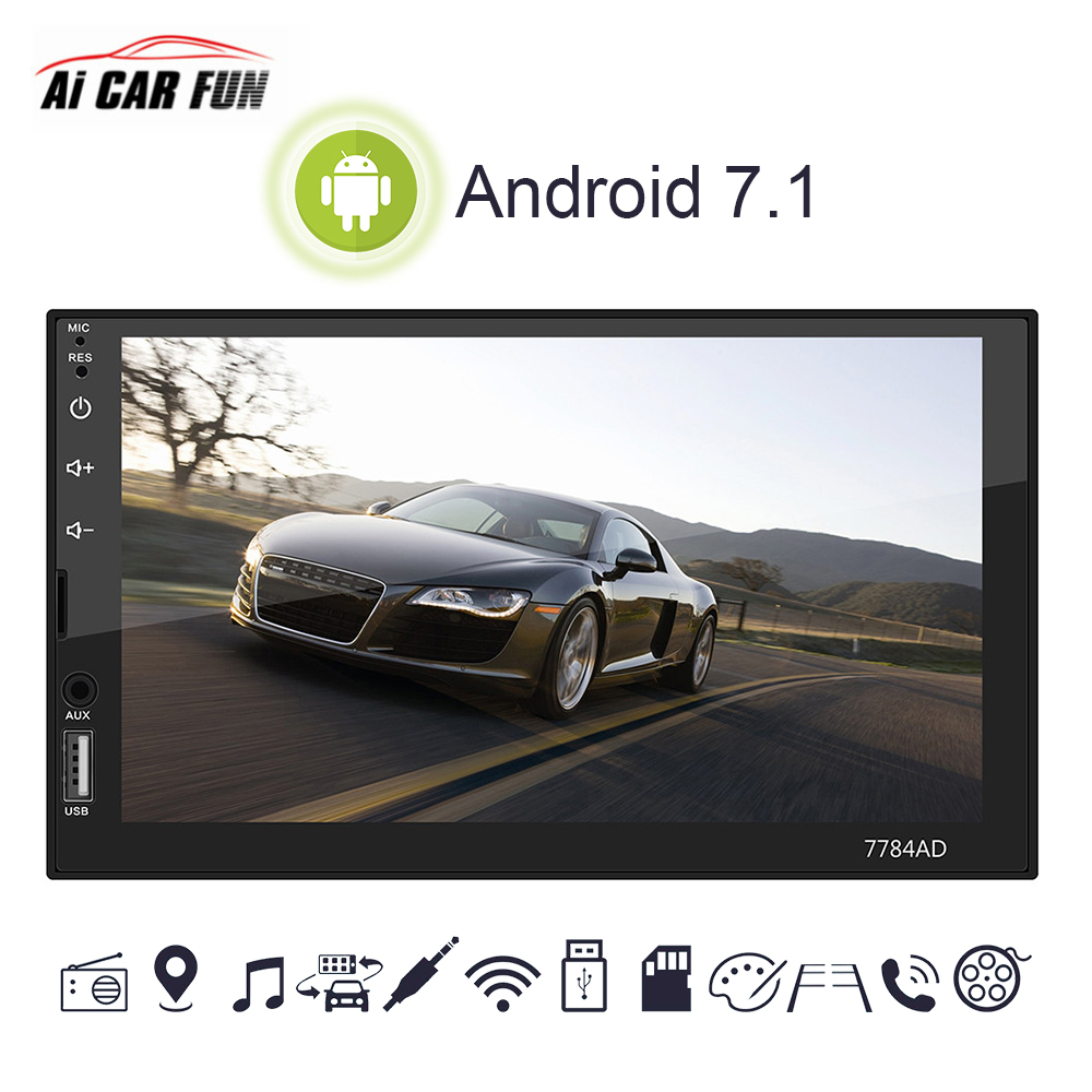 font b Car b font 2 Din 7 Inch Android 7 1 System MP5 Bluetooth
