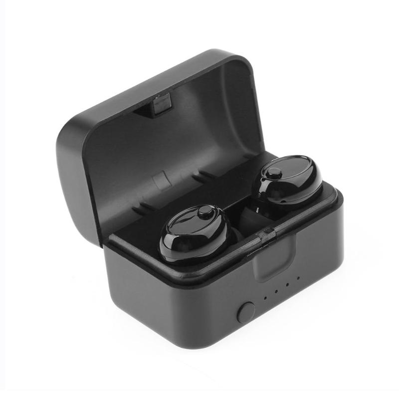 Mini TWS Wireless Earbuds Stereo Bluetooth Earphone BT 5.0 Sport Headset With Microphone Charger Box For iPhone Xiaomi Earphone hot 1pcs 4 0 earphone wireless bluetooth mini stereo headset headphone earphone with microphone for xiaomi iphone samsung