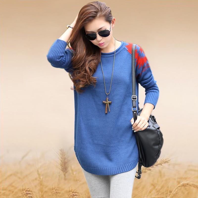 más azul mujer del suéter mujeres largo suéter suéter suelta para suéter rosa tejido en amarillo el 2015 ocasional del mujeres tamaño Pullovers resorte w158 wnx4CwRqI