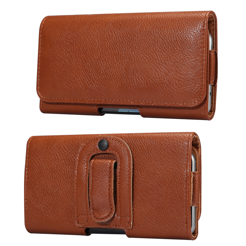 Universal Sports Mobile Phone Waist Bag Leather Case For IPhone 8Plus Belt Holster Bag Cover Outdoor Flip Bag Case For IPhone XS