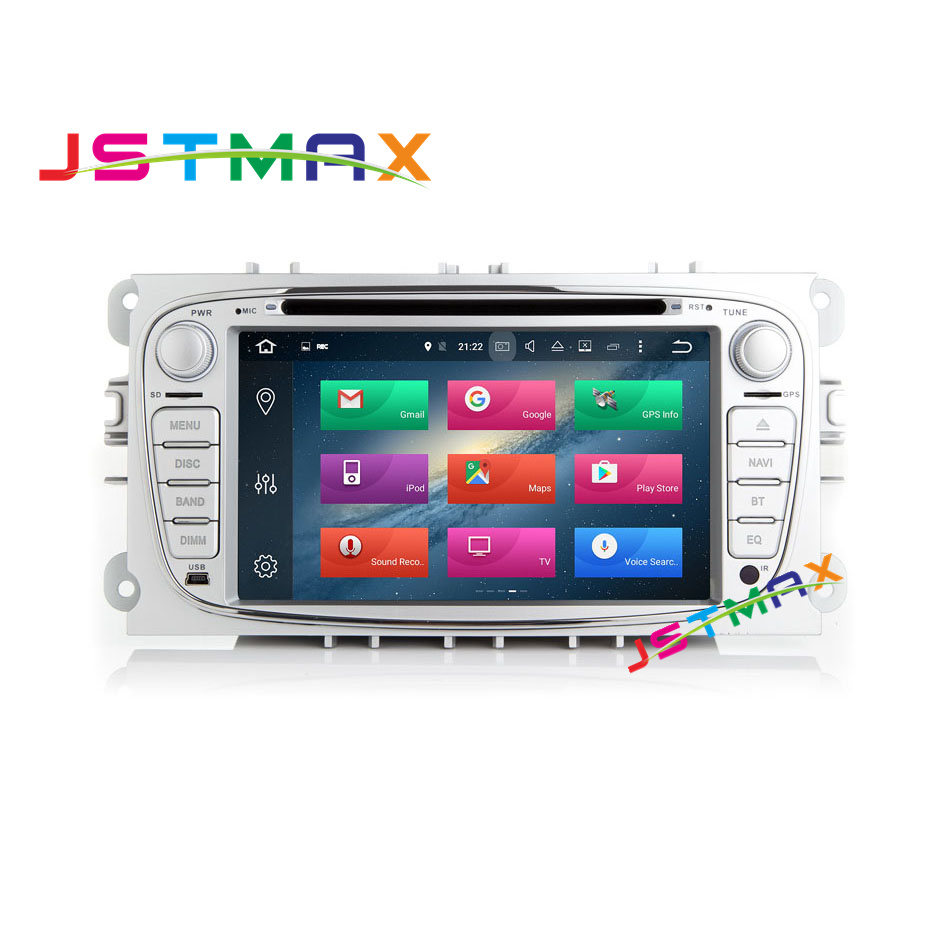HD 1024*600 Android 6.0 Octa Cores 2G RAM Car DVD GPS Player For FORD/Focus/S-MAX/Mondeo/C-MAX/Galaxy 2 Din Wifi 32G ROM