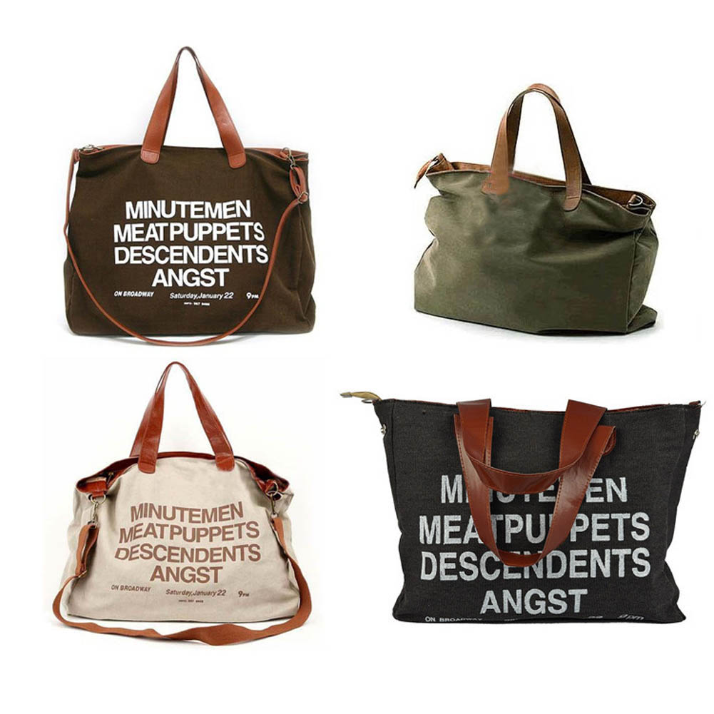 c2aa7449e06e New Shoulder Bag Canvas Women Handbags Letters Messenger Bag Ladies Hand  Bags Casual Big Female Floral