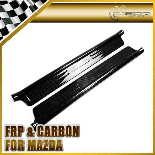 Plaque de panneau de seuil de porte en Fiber de carbone pour Mazda MX5 NB MK2 Miata