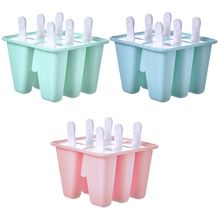 6 Pieces Silicone Ice Pop Molds BPA Free Popsicle Mold Reusable Easy Release Maker