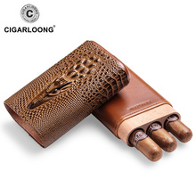 Free ship Hot new cigar case portable humidor box travel leather CF-0407