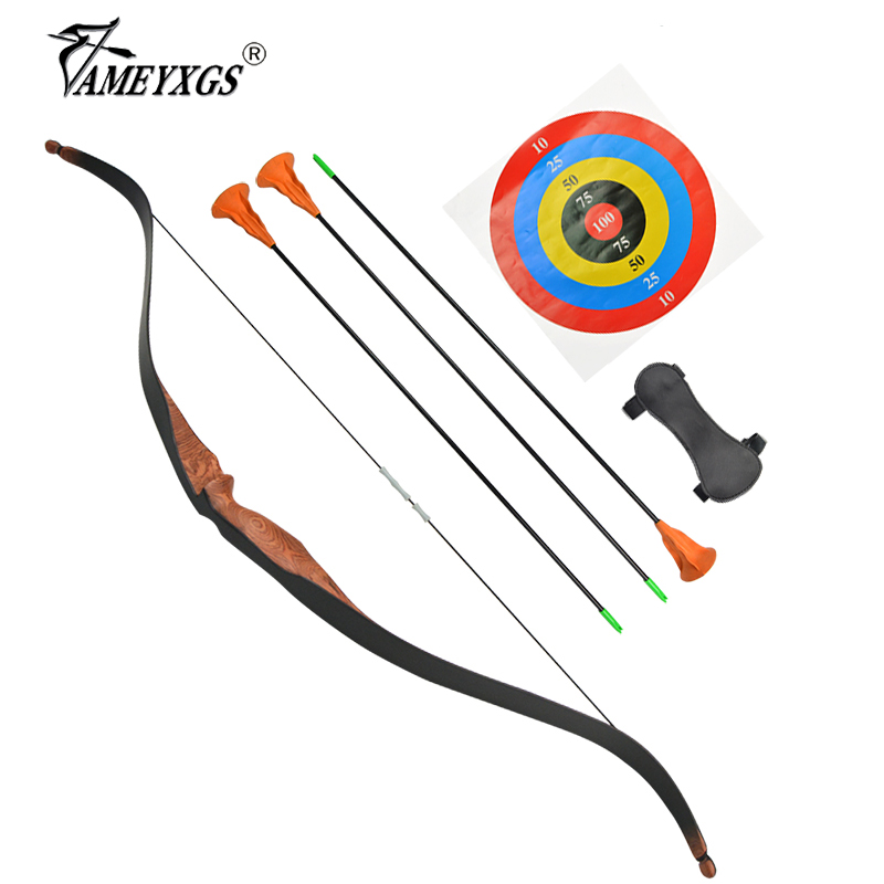 1set Archery Recurve Bow Children Wooden Bow And Arrow Set Teen Shooting Training Outdoor Sports Sucker