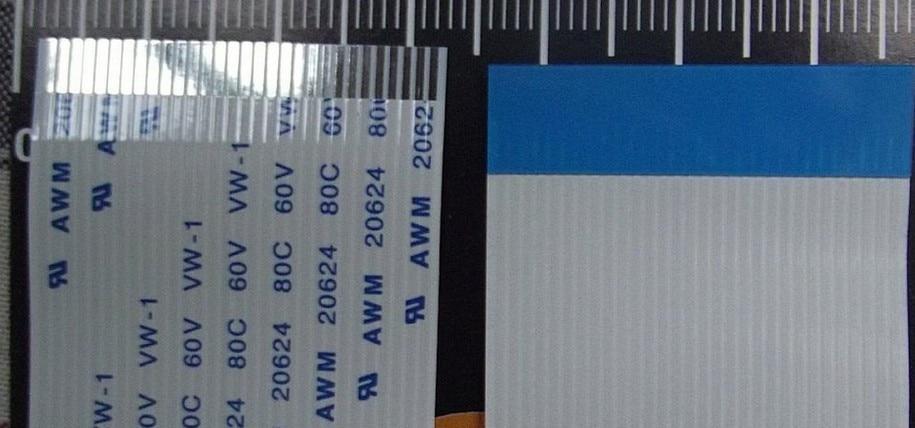 CUSTOMIZED ORDER : Flat Flex Ribbon FFC Cable 4 - 80 Pin 30 - 1000mm Long Pitch 0.5mm 0.8mm 1.0mm 1.25mm  Awm Vw-1