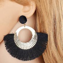 Fashion Women Earrings Simple Rhombus Hand-knitted Bohemian Earings Pair Female Jewelry Oorbellen Pendientes