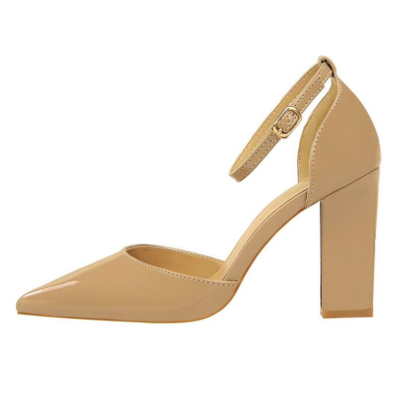 Mujer Oficina Zapatos Hebilla De Alto a0158 Mujeres Ds Cm 1 5 Talones Las Negro 9 La Marca Toe Bombas Tacón 2 4 Señaló Boda 2018 3 TnOUxqdO