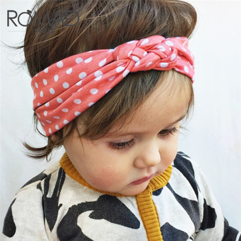 Romad 2018 New Fashion Dot Cross Children Hair Band 5 Colors Girls Weave Twist Headband Colorful Cute New Born Baby Hair R5