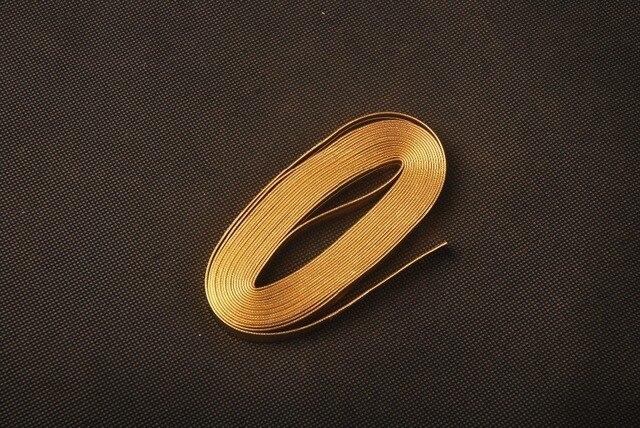 Gold Leder Ito Sageo Warpping Kabel für Samurai Schwert Messer Japanische Katana Wakizashi Tanto PS1