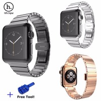 High Quality HOCO Luxury Butterfly Lock Link Bracelet Stainless Steel Strap Watch Bands For Apple Watch