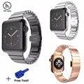 HOCO Luxo Original Bloqueio Borboleta Alça de Ligação Pulseira de Aço Inoxidável para a série 2 watch band para apple watch 42mm com ferramenta
