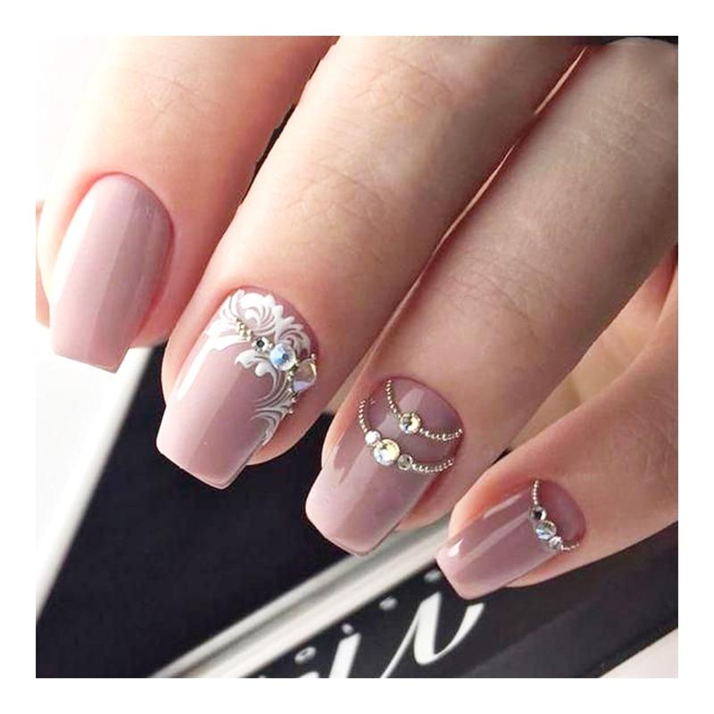 1pcs gold 3d flower flora rose geometry letter nail art sticker