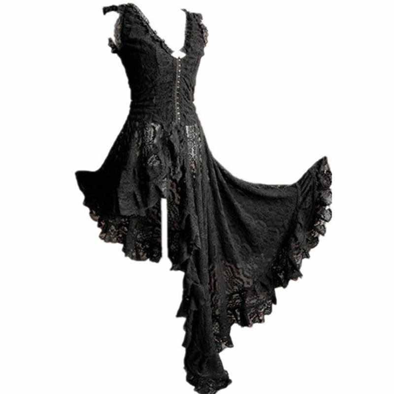 Летние элегантные черные готические шикарные сексуальные большие размеры вечерние женские длинные платья кружевные Простые полые сетчатые Женские Ретро Модные макси платья