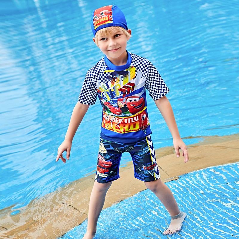 Children's Swimwear Baby Boy Rash Guard Kids Children Guards Swimsuit New Swimming Trunks Child Polyester Animal