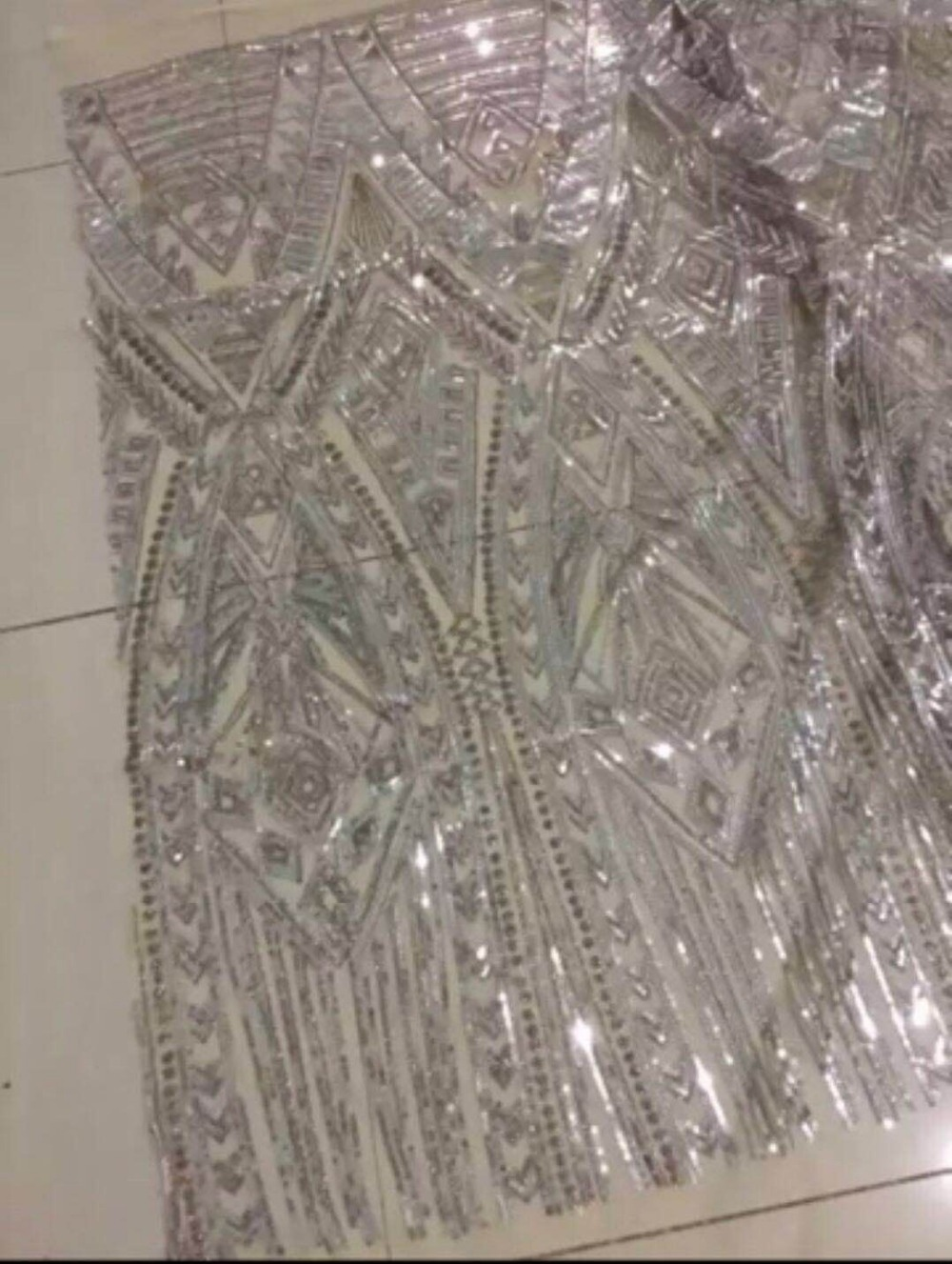 hot sale embroidered Mesh Tulle fabric nice looking Sat 71405 sequins Nigerian lace fabrics