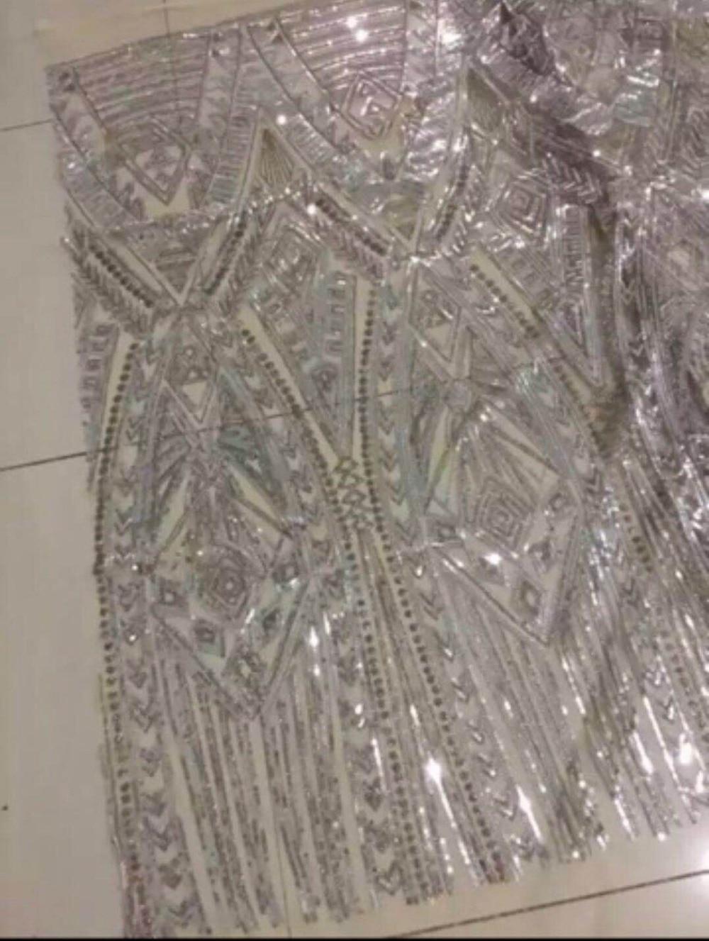 Gran venta de tela de tul de malla bordada bonito aspecto Sat 71405 telas de encaje nigeriano de lentejuelas-in encaje from Hogar y Mascotas    1
