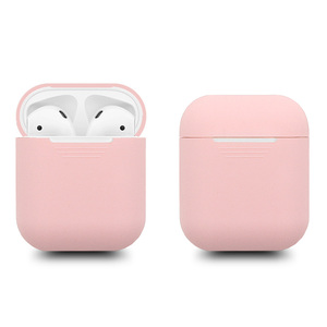 Image 2 - 300pcs Soft Silicone Slim Case Cover for Apple Airpods charging Case Air pods Protection Cases Sleeve pouch bag coque fundas Red