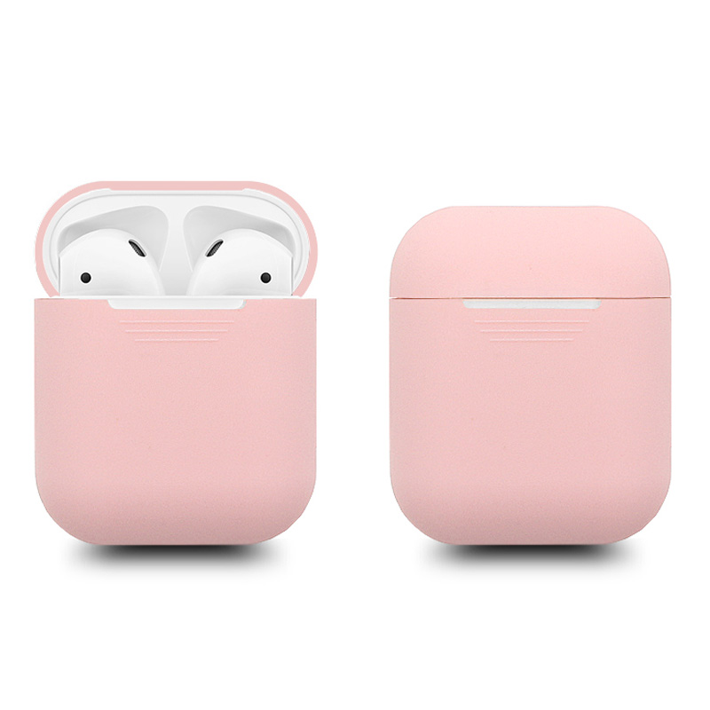 500pcs Soft Silicone Slim Case Cover for Apple Airpods charging Case Air pods Protection Cases Sleeve pouch bag coque fundas Red