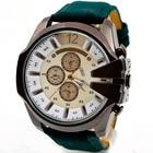 Luxury Men Watch Analog Sport Steel Case Quartz Dial Leather Wrist Watch High quality watches #220717
