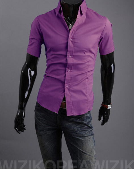 stylish Dress short Sleeve Shirts New 2015 Men Shirts Fashion ...