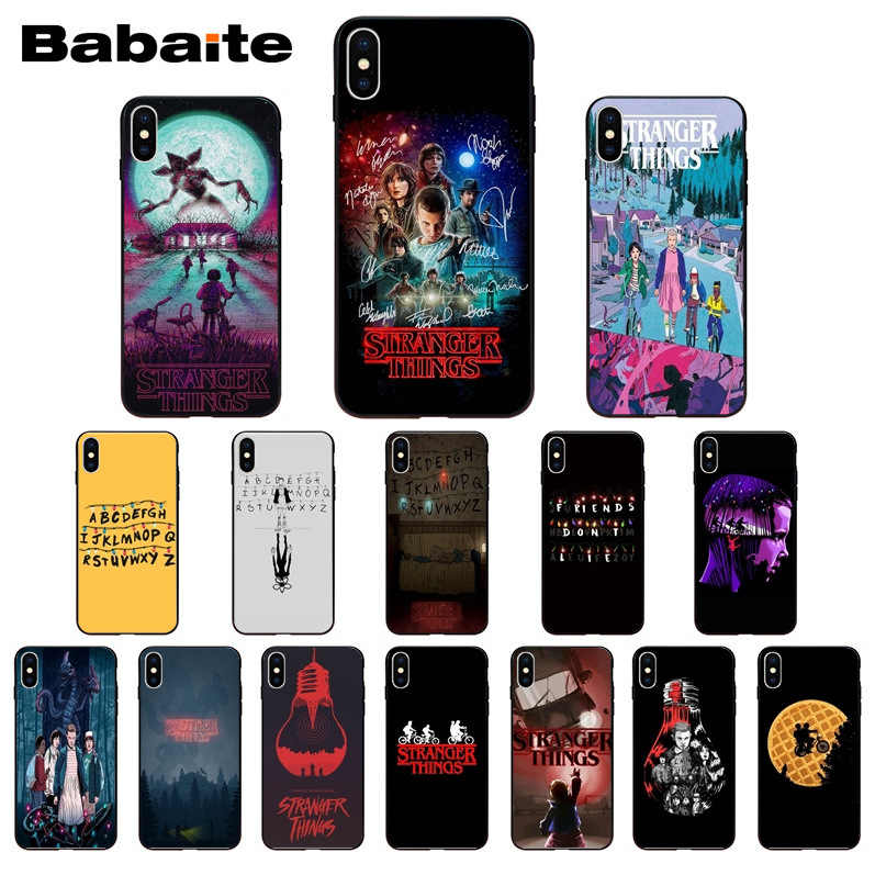 Stranger Things Christmas Lights Soft Shell Phone case Cover for iPhone 8 7 6 6S Plus X XS MAX 5 5S SE XR Mobile Cover Babaite