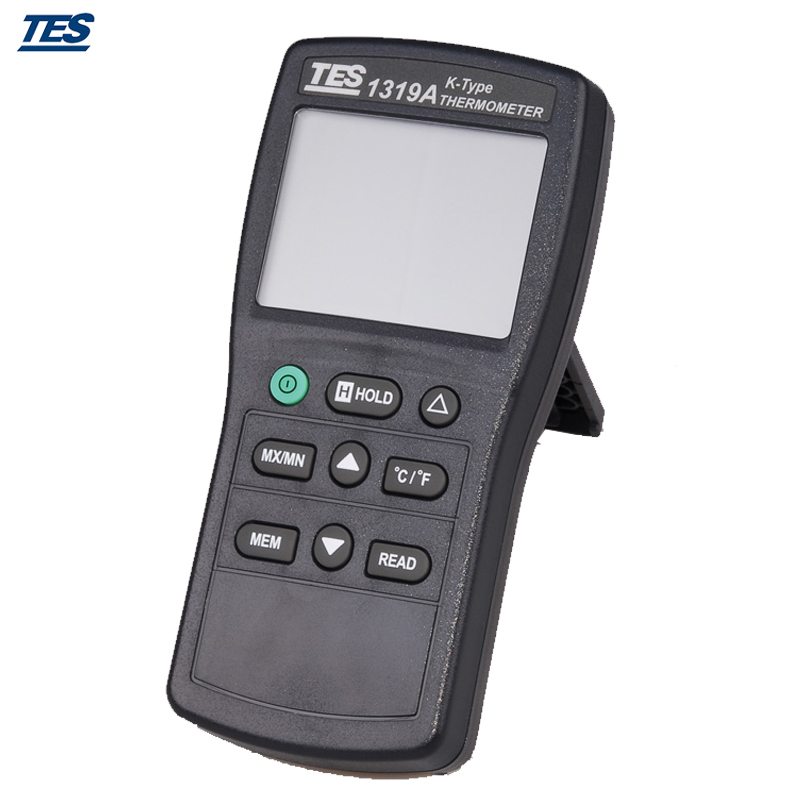 New TES-1319 Portable Digital K-type Industrial Thermometer -50~1350C tes 1326s industrial infrared thermometer 35 500c