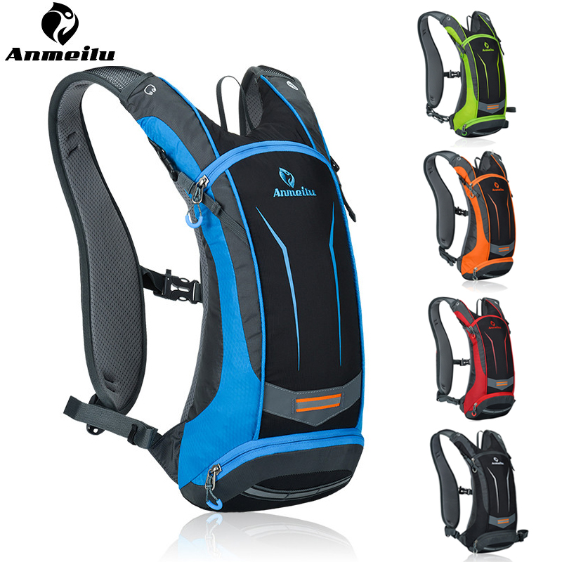 ФОТО Anemilu Bicycle Bags Women Men Outdoor Sports Camping MTB Road Riding Hiking Tactical Rainproof Cycling Backpack Hydration 2017