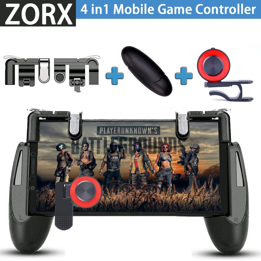 Zorx Gamepad For Knives Out Pubg Mobile Phone Shoot Game Controller L1r1 Shooter Trigger Fire Button 3 In 1 For Ios Android