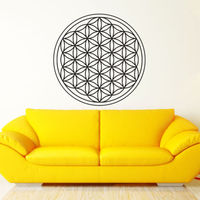 D528 Seed Flower Of Life Wall Decal Art Decor Sticker Vinyl Sacred Geometry