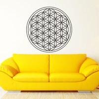 D528 Seed Flower Of Life Wall Decal Art Decor Sticker Vinyl Sacred Geometry