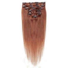 Best Sale Women Human Hair Clip In Hair Extensions 7pcs 70g 15inch Red