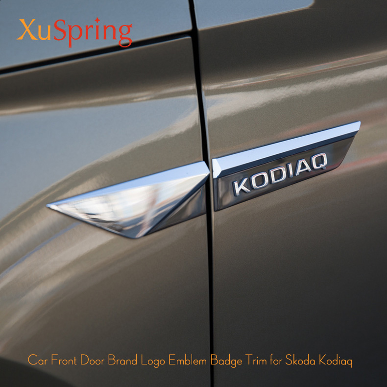 For Skoda Kodiaq 2017 2018 2019 Car Original Side Wing Fender Door Emblem Badge Sticker Trim Car Styling Car Sticker