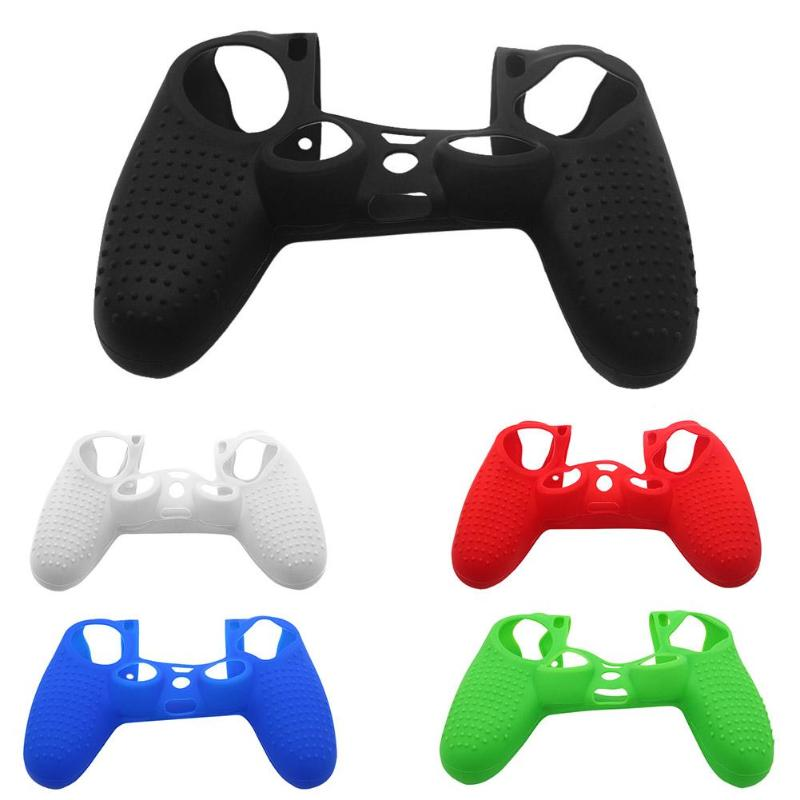 100pcs Wave Point Soft Silicone Protective Joystick Thumbstick Grip Caps Protective Skin Cover Case for PS4