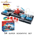 Робот Обучающие игрушки для детей 54 супер ученый Физической Науки Игрушки набор Детей Творческий Сделай Сам Домашнее Игрушка Весело Науки
