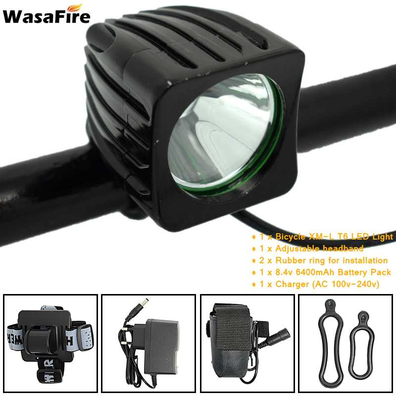 WasaFire 3600lm XML T6 bicycle lights Cycling road bike light explorer headlight Frontlight Headlamp Rechargeable LED Head Light