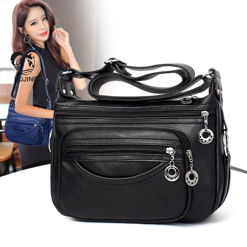 KUJING Fashion Handbags Cheap High Quality Middle-aged Mother Bag Women Shoulder Messenger Bag Hot Female Travel Leisure Package цена 2017
