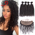 Indian Virgin Hair With Closure Water Wave Virgin Hair With Closure 4 Bundles With Closure Lace Frontal With Bundles Human Hair