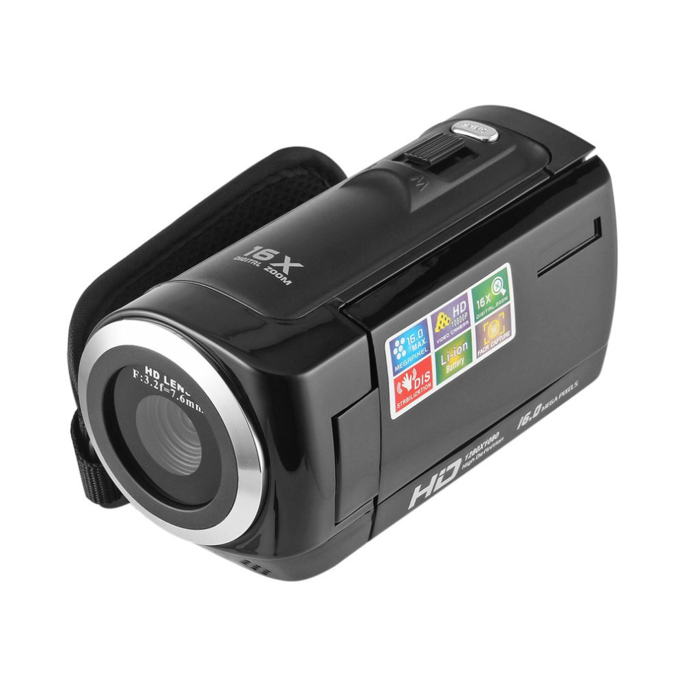Portable 1080P HD Video Camera 16MP 16x Zoom 2.7'' TFT LCD Digital Video Camcorder Camera DV DVR Black Red Perfect Gift Hot Sale hot sale easy use hd 720p 12m 8x digital zoom video camcorder camera gift for family happy recording 1pc
