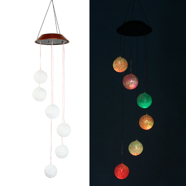 Marvelous LED Outdoor Light Garden Decoration Wind Chime Lamp Solar Power LED Solar  Light Yard Door Hanging